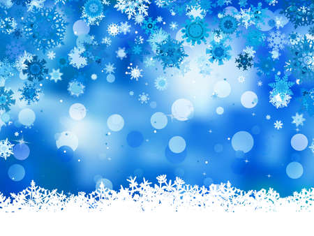 Elegant christmas blue background with snowflakes  And also includes  Stock Vector - 16921304