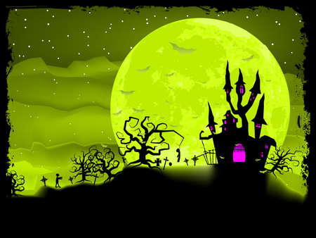 Halloween poster with zombie background Stock Vector - 17016142