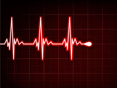 heart ecg trace: Abstract heart beats cardiogram