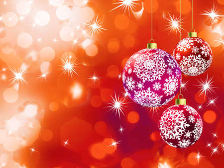 diffusion: Bokeh arancione di luci di Natale con una bella frizzante e diffusione Vettoriali