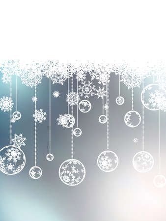holiday invitation: Christmas background with copyspace  All elements on separate layers