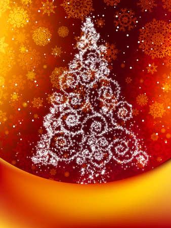 Elegant christmas background Stock Vector - 17073194