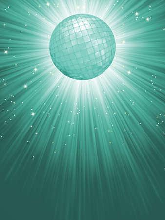Beidge disco rays with stars   Vector