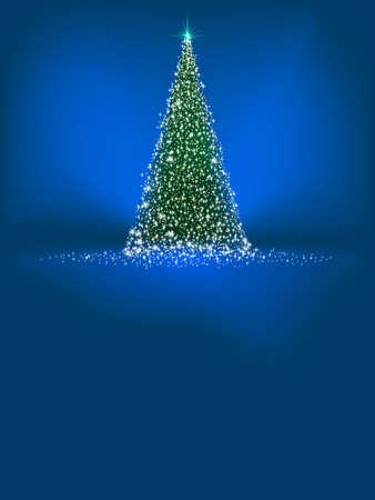 Beau modèle de carte d'hiver avec des arbres et des flocons de neige fichier inclus Banque d'images - 17273059