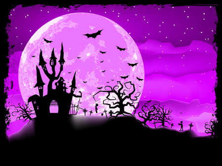 Halloween poster with zombie background file included Stock Vector - 17273048