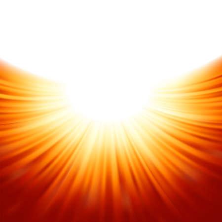 morning sunrise: Sunburst rays of sunlight tenplate