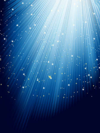 Stars on blue striped background Stock Vector - 17273056