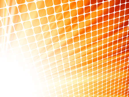 perspective grid: Red yelloe rays light 3D mosaic