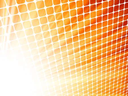 Red yelloe rays light 3D mosaic Stock Vector - 17312830