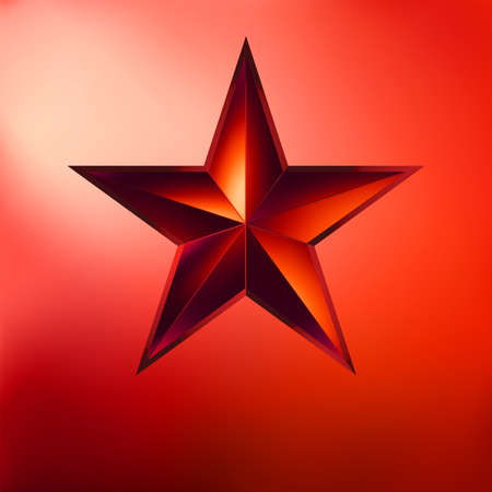 Illustration of a Red star on red background   Vector