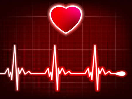 Heart beating monitor  EPS 8 vector file included Vector