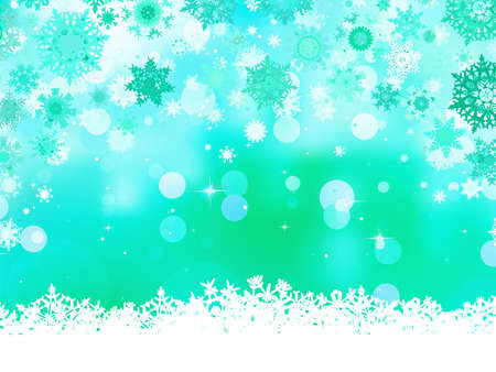 Elegant christmas green background with snowflakes  And also includes EPS 8 vector