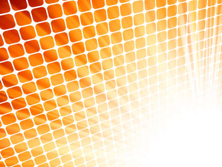 Red yellow rays light 3D mosaic