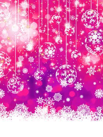 Purple Christmas background Stock Vector - 17503802