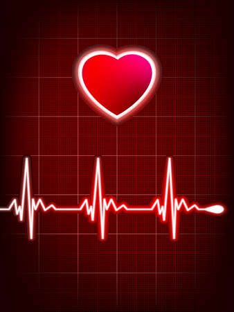 Abstract heart beats cardiogram Stock Vector - 17503808