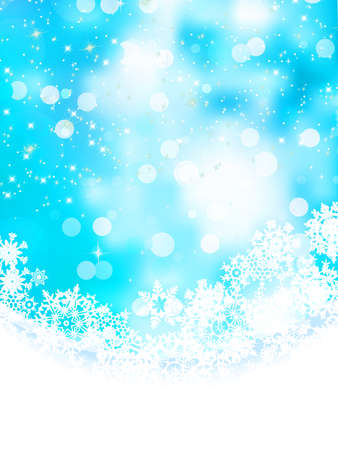 Blue background with snowflakes   Stock Vector - 17503810