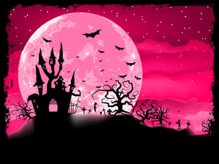 Halloween poster with zombie background Stock Vector - 17593522
