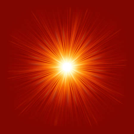 emanation: Star burst red and yellow fire