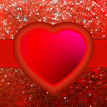 Abstract mosaic heart background  EPS 8 vector file included Vector