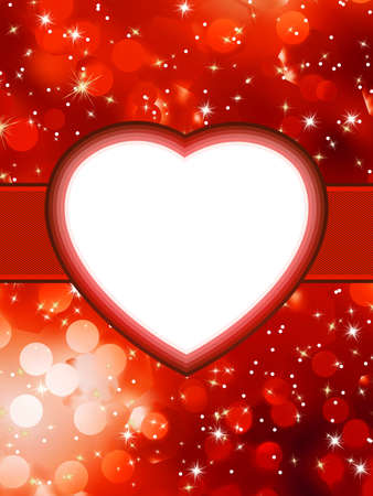 st valentine  s day: Valentines red abstract St Valentine s Day  EPS 8 vector file included Illustration
