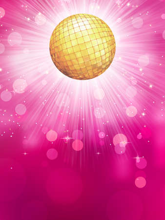 Abstract golden background with disco ball  EPS 10 vector file included