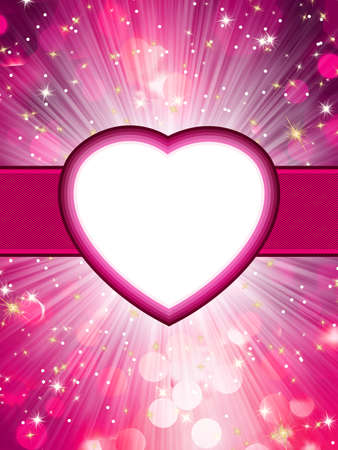 corazon: Valentine hearts abstract pink background  St Valentine s Day  EPS 8 vector file included