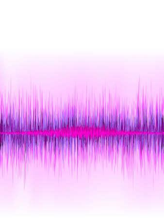 sound wave: Pink sound wave on white background   file