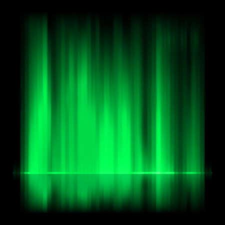 aurora: Green aurora borealis background