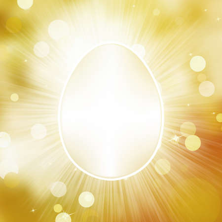 Easter frane egg greeting card   Vector