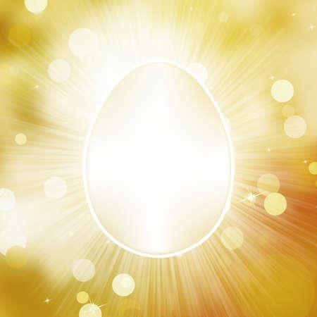 Easter frane egg greeting card Stock Vector - 18048495