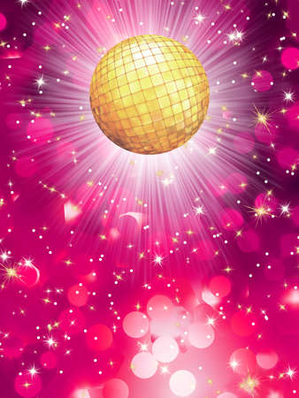 discoball: Violet party background