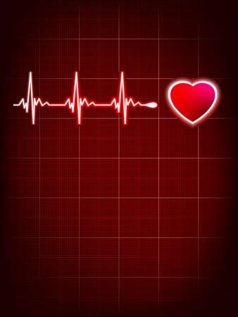 cardiogram: Heart beating monitor Illustration