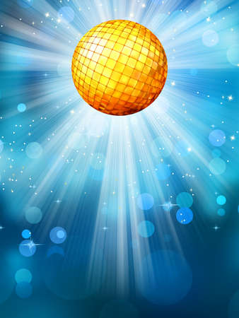 Blue background with disco ball  EPS 10 vector file included Stock Vector - 18254767