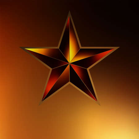 illustration of a Gold star on gold background  EPS 8 vector file included Vector