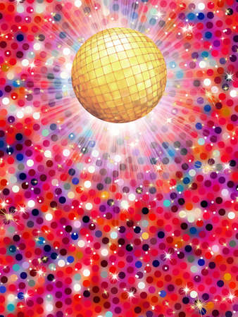 Colorful disco ball 3d illustration Stock Vector - 18343403