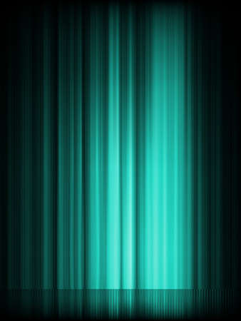 ionosphere: Blue aurora borealis background