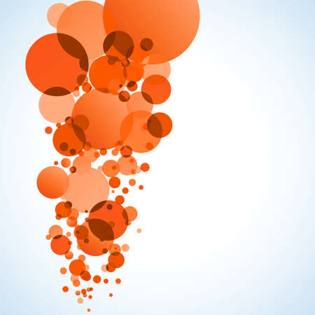 spilled paint: Abstract orange background