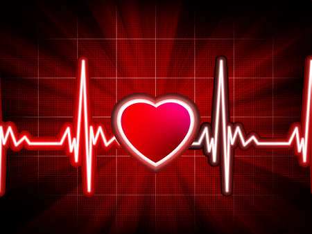 Heart beating monitor  EPS 8 vector file included