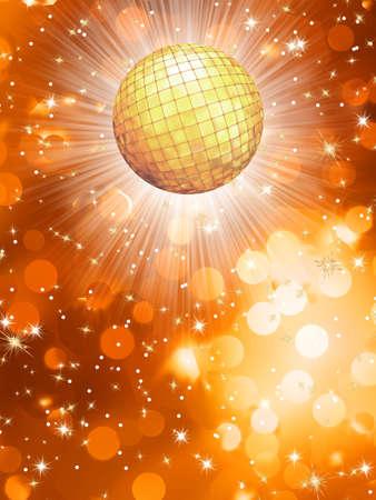fiestas electronicas: Orange fiesta fondo EPS 10 vector file included