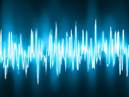 Sound waves oscillating on black background  EPS 8 vector file included  Vector