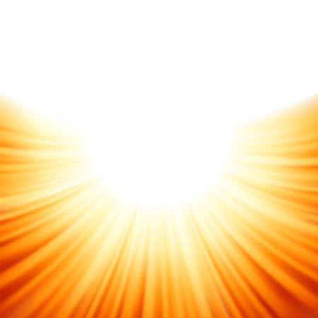 Sunburst rays of sunlight tenplate   Stock Vector - 18551516