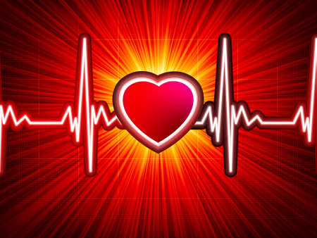 infarct: Heart beating monitor with burst  EPS 10 vector file included