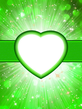 st valentine  s day: Valentine hearts abstract green background  St Valentine s Day  EPS 10 vector file included
