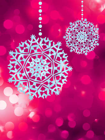 Christmas background with snowflakes and bokeh lights  EPS 8 vector file included Stock Vector - 18684578