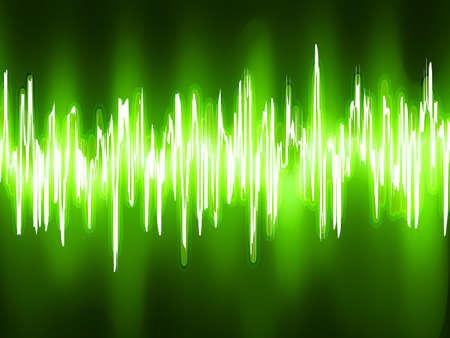 wavelength: Las ondas sonoras oscilantes sobre fondo negro EPS 8 vector file included