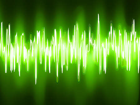 included: Sound waves oscillating on black background  EPS 8 vector file included  Illustration
