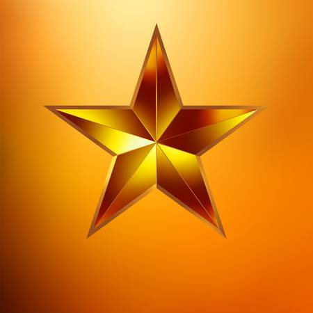 Illustration of a Gold star on gold background Stock Vector - 18844871
