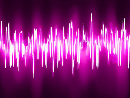 Sound waves oscillating glow light  EPS 8 vector file included Vector