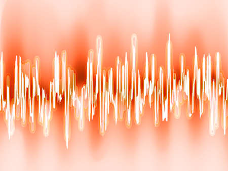 included: Sound waves oscillating glow light  EPS 8 vector file included