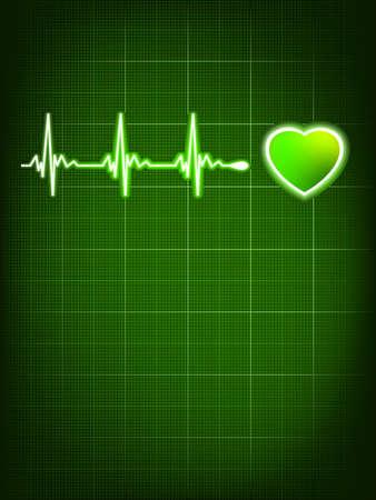 infarctus: C?ur battant moniteur fichier EPS 8 inclus
